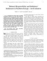 Balance Responsibility and Imbalance Settlement in Northern Europe: An Evaluation