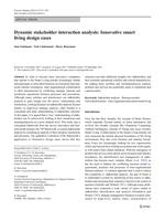 Dynamic stakeholder interaction analysis: Innovative smart living design cases