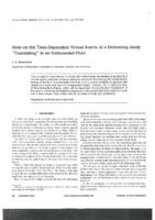 Note on the time-dependent virtual inertia of a deforming body translating in an unbounded fluid
