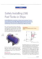 Safely installing LNG fuel tanks in ships