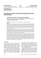 Operational model for vessel traffic using optimal control and calibration