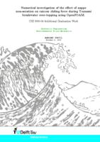 Numerical investigation of the effect of nappe non-aeration on caisson sliding force during Tsunami breakwater over-topping using OpenFOAM