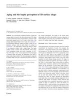 Aging and the haptic perception of 3D surface shape