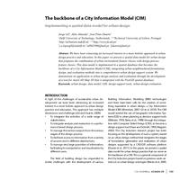 The backbone of a City Information Model (CIM): Implementing a spatial data model for urban design