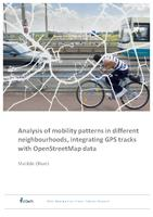 Analysis of mobility patterns in different neighbourhoods, integrating GPS tracks with OpenStreetMap data