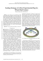 Scaling strategy of a new experimental rig for wheel-rail contact