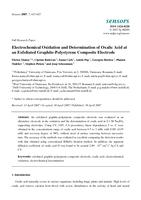 Electrochemical Oxidation and Determination of Oxalic Acid at an Exfoliated Graphite-Polystyrene Composite Electrode