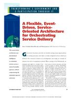 A Flexible, Event-Driven, Service-Oriented Architecture for Orchestrating Service Delivery