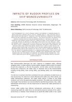 Impacts of rudder profiles on ship manoeuvrability