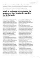 Mind the evaluation gap: Reviewing the assessment of architectural research in the Netherlands