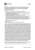 Economic Viability Study of an On-Road Wireless Charging System with a Generic Driving Range Estimation Method