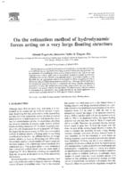 On the estimation method of hydrodynamic forces acting on a very large floating structure