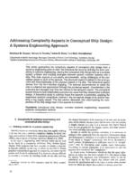 Addressing complexity aspects in conceptual ship design: A systems engineering approach