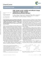 High charge carrier mobility and efficient charge separation in highly soluble perylenetetracarboxyl-diimides