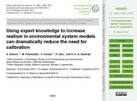 Using expert knowledge to increase realism in environmental system models can dramatically reduce the need for calibration