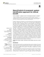 NeuroControl of movement: System identification approach for clinical benefit
