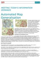 Automated Map Generalisation: Meeting today's information demands
