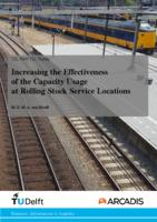 Increasing the Effectiveness of the Capacity Usage at Rolling Stock Service Locations