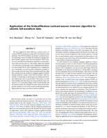 Application of the finite-difference contrast-source inversion algorithm to seismic full-waveform data