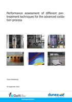 Performance assessment of different pre-treatment techniques for the advanced oxiation process