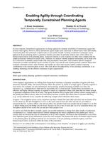 Enabling Agility through Coordinating Temporally Constrained Planning Agents