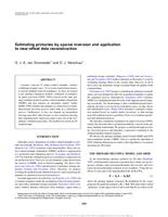 Estimating primaries by sparse inversion and application to near-offset data reconstruction