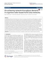 On achieving network throughput demand in cognitive radio-based home area networks
