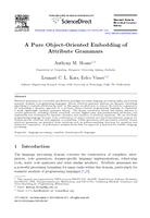 A Pure Object-Oriented Embedding of Attribute Grammars