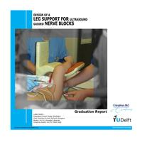 Design of a leg support for an ultrasound-guided nerve block