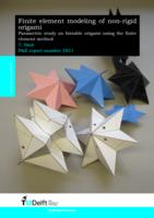 Finite element modeling of non-rigid origami