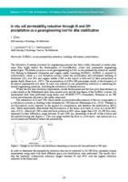 In situ soil permeability reduction through Al and OM precipitation as a geoengineering tool for dike stabilization