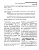 Derivation of the Bi-axial Bending, Compression and Shear Strengths of Timber Beams