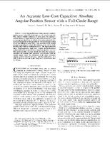 An accurate low-cost capacitive absolute angular-position sensor with a full-circle range
