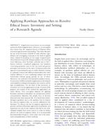 Applying Rawlsian Approaches to Resolve Ethical Issues: Inventory and Setting of a Research Agenda