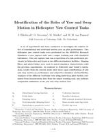 Role Identification of Yaw and Sway Motion in Helicopter Yaw Control Tasks