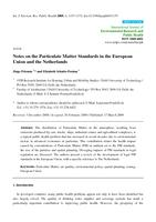 Notes on the Particulate Matter Standards in the European Union and the Netherlands