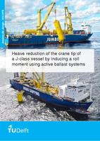 Heave reduction of the crane tip of a J-class vessel by inducing a roll moment using active ballast systems