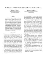 Inefficiencies in Task Allocation for Multiagent Planning with Bilateral Deals