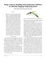 Design Analysis, Modelling and Experimental Validation of a Bird-like Flapping-Wing Flying Robot