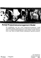 Actief projectrisicomanagement model