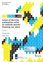 Level of Service estimation with in-vehicle sensor floating car data