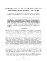Conflict detection and resolution system architecture for unmanned aerial vehicles in civil airspace