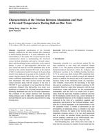 Characteristics of the Friction Between Aluminium and Steel at Elevated Temperatures During Ball-on-Disc Tests