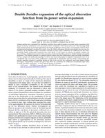 Double Zernike expansion of the optical aberration function from its power series expansion