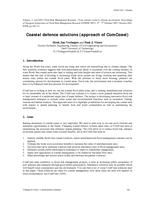 Coastal defence solutions (approach of ComCoast)
