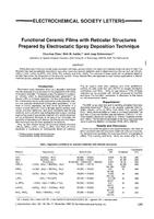Functional ceramic films with reticular structures prepared by electrostatic spray deposition technique