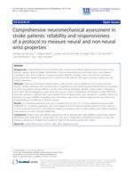 Comprehensive neuromechanical assessment in stroke patients: Reliability and responsiveness of a protocol to measure neural and non-neural wrist properties