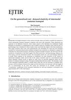 On the generalized cost - demand elasticity of intermodal container transport