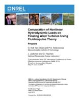 Computation of Nonlinear Hydrodynamic Loads on Floating Wind Turbines Using Fluid-Impulse Theory