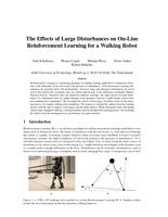 The Effects of Large Disturbances on On-Line Reinforcement Learning for aWalking Robot